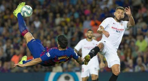 ملخص ونتيجة مباراة برشلونة واشبيلية اليوم 19-6-2020 قمة كبيرة بالدوري الأسباني